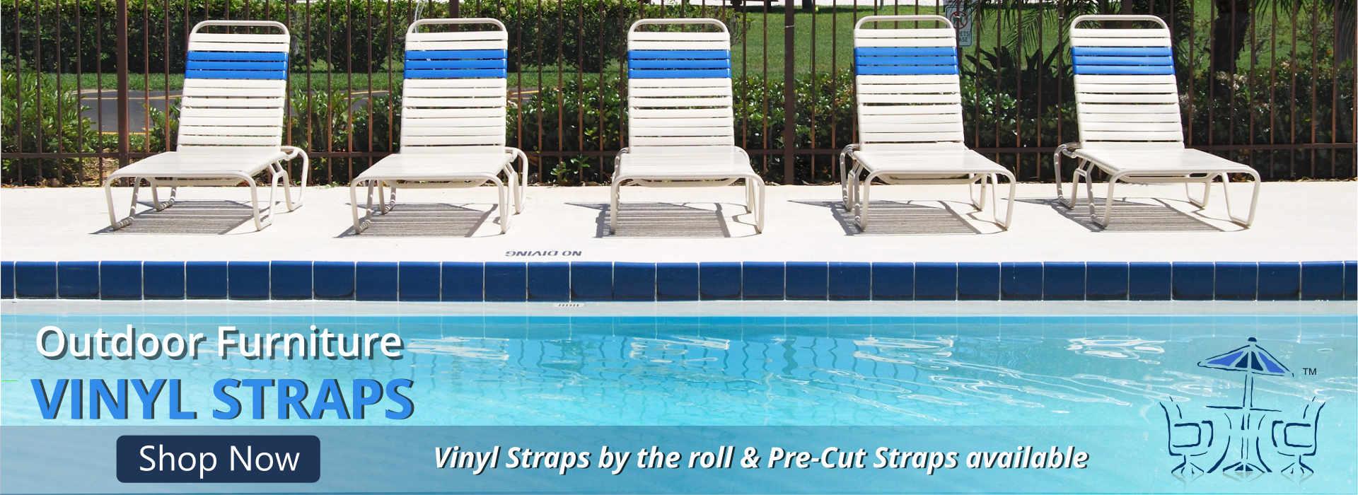 Vinyl Strap Chairs. Umbrella Outdoor Furniture Part 98